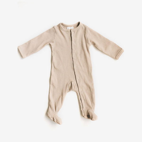 Ribbed Footed One-piece - Sand