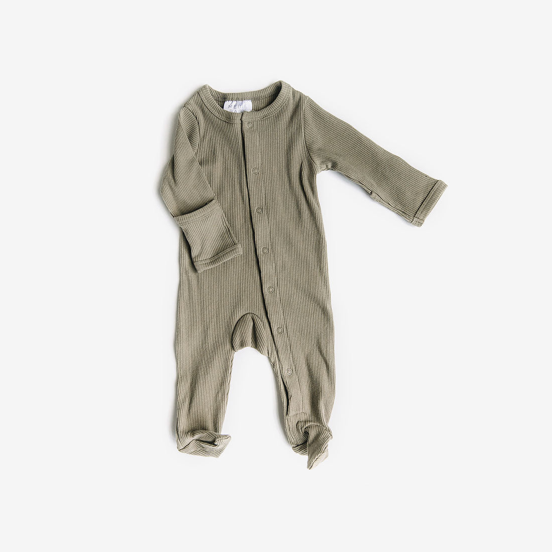 Ribbed Footed One-piece - Sage
