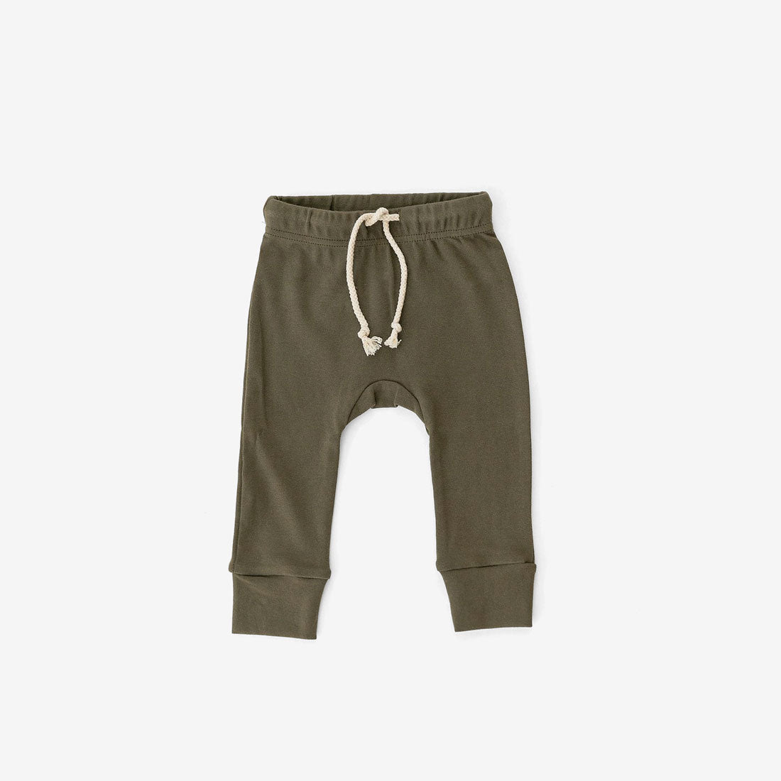Cotton Jogger Pants - Olive