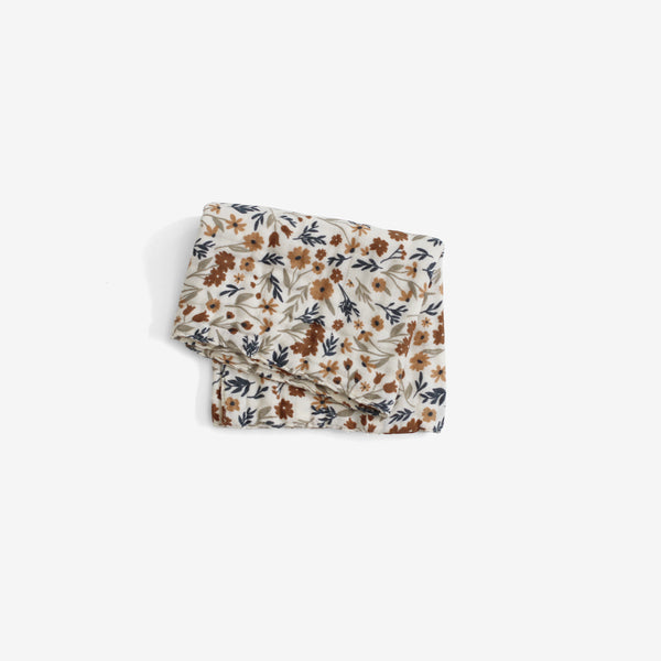 Cotton Muslin Burp Cloth - Harvest Floral