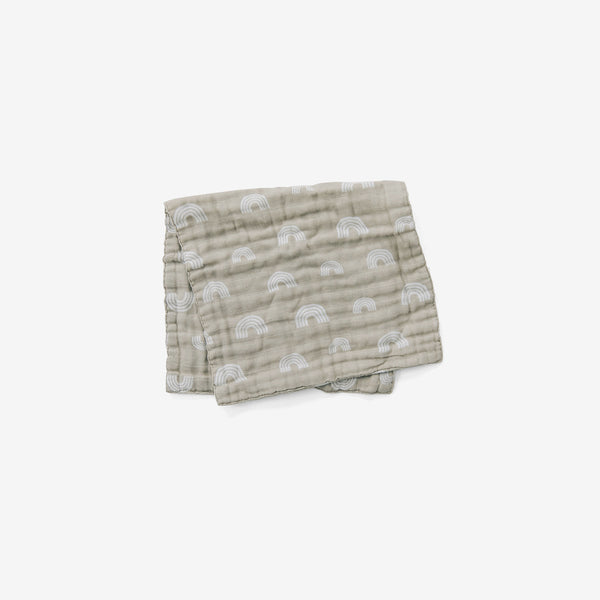 Cotton Muslin Burp Cloth - Sand Rainbow