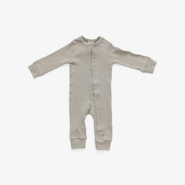 Organic Cotton Rib Romper - Sagebrush