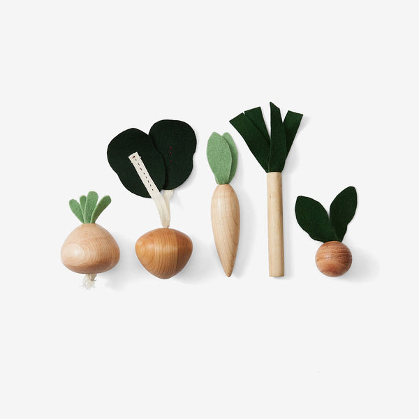 Wooden Play Food Set - Veggies