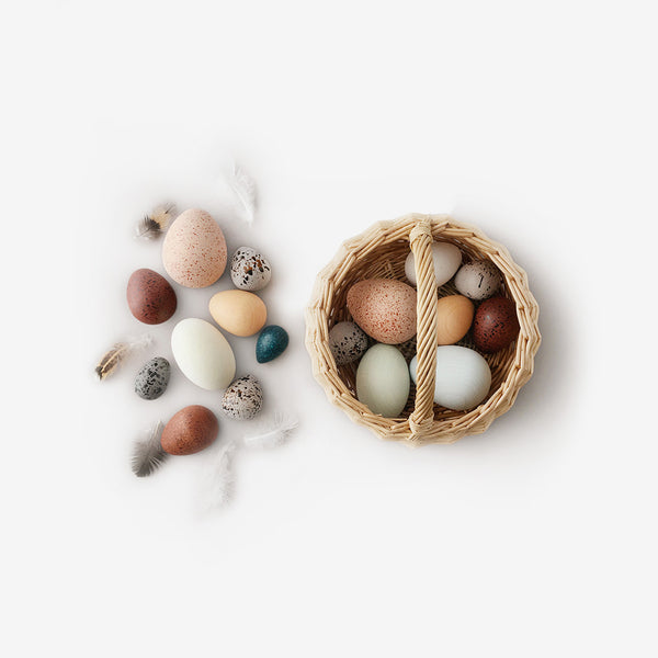 A Dozen Bird Eggs Basket