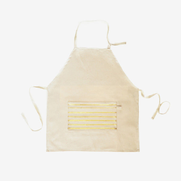 Gold Foil Stripe Kid's Apron