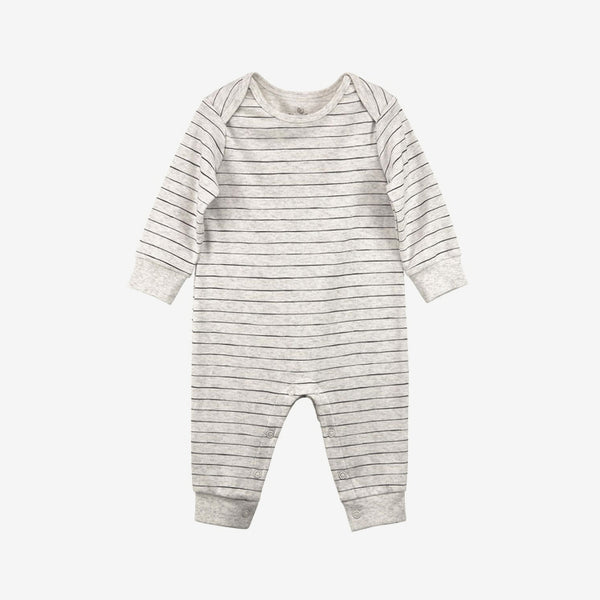 Organic Pima Union Suit - Oatmeal Stripe