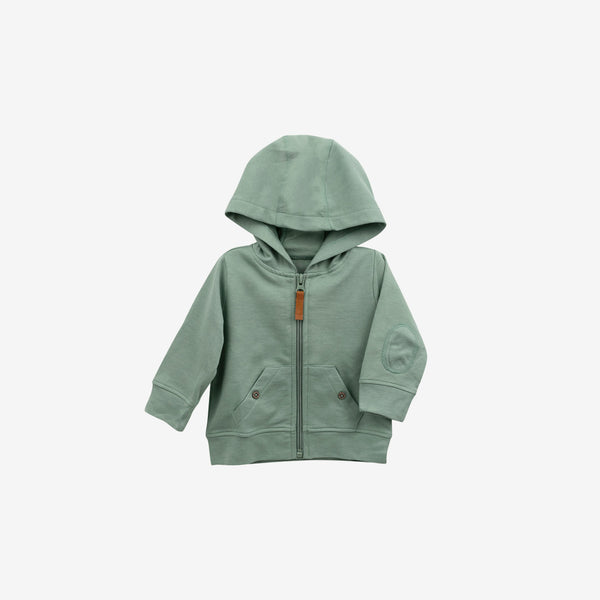 Organic French Terry Hoodie - Moss Green