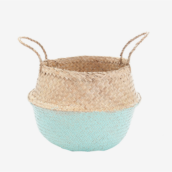 Seagrass Belly Basket - Medium Mint