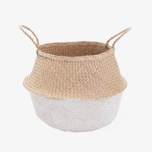 Seagrass Belly Basket - Medium White