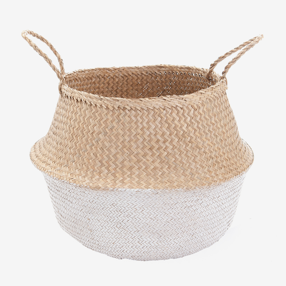Seagrass Belly Basket - Large White