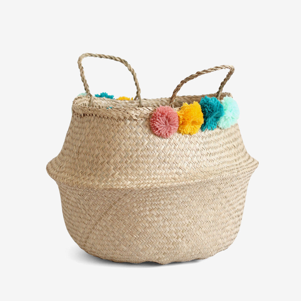 PomPom Belly Basket - Large