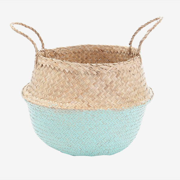 Seagrass Belly Basket - Large Mint