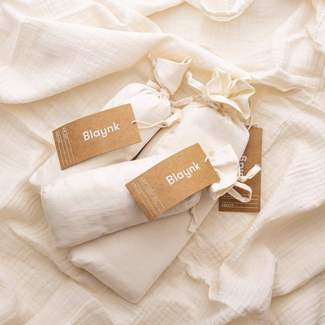 Organic Undyed Cotton Muslin Baby Bundle Set