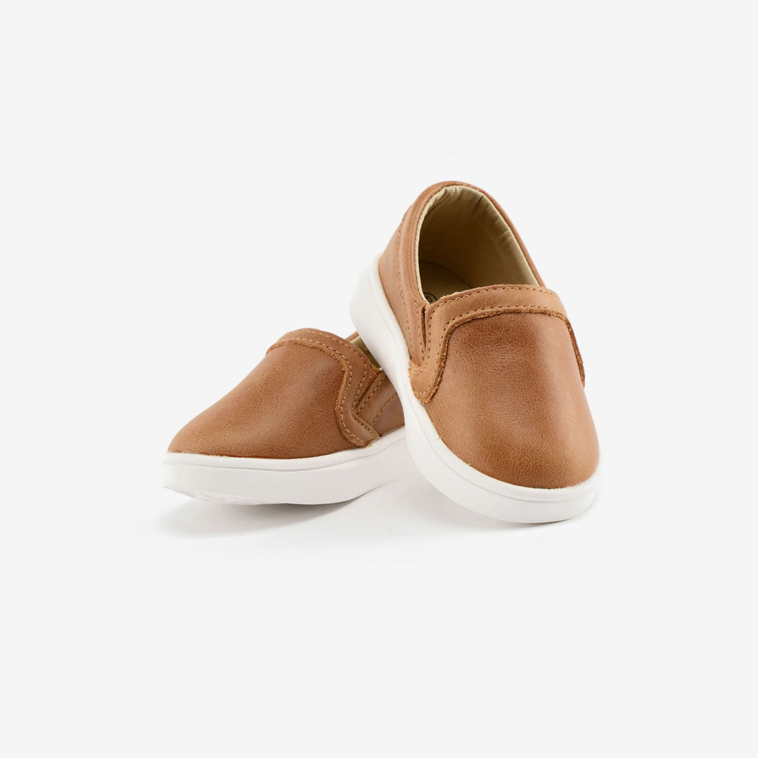 Slip-On Leather Sneakers - Cognac