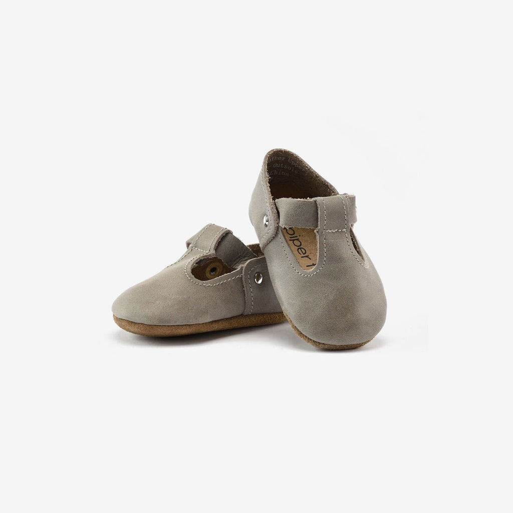 T-Strap Mary Jane Baby Shoe - Stone