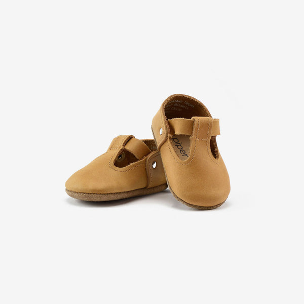 T-Strap Mary Jane Baby Shoe - Natural