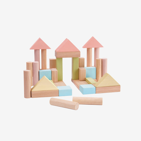 Wooden Blocks Set 40-piece - Pastel
