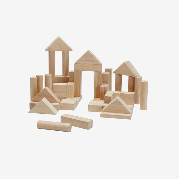 Wooden Blocks Set 40-piece - Natural