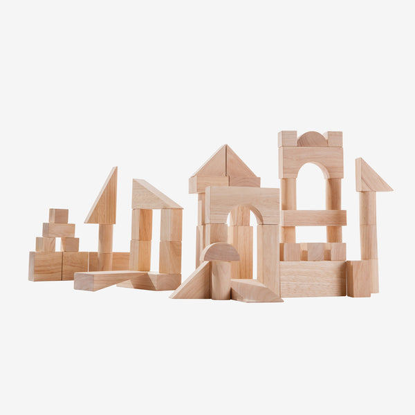 Wooden Blocks Set 50-piece Natural