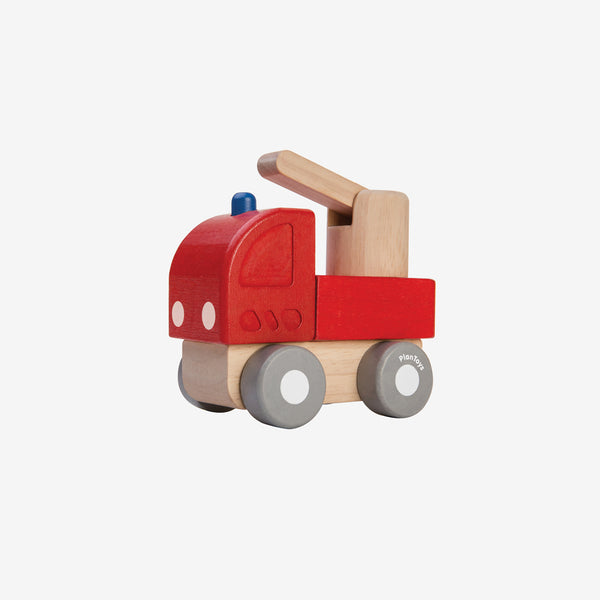 Mini Rubberwood Truck - Fire Engine
