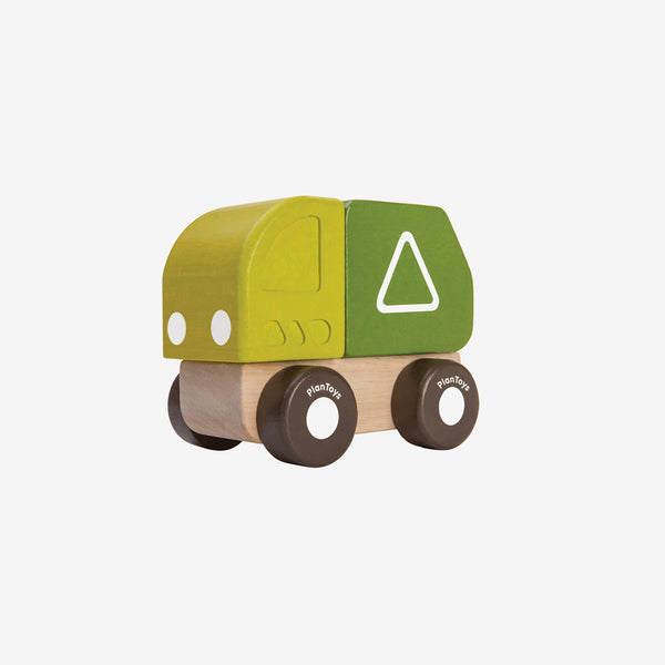 Mini Rubberwood Truck - Garbage Truck