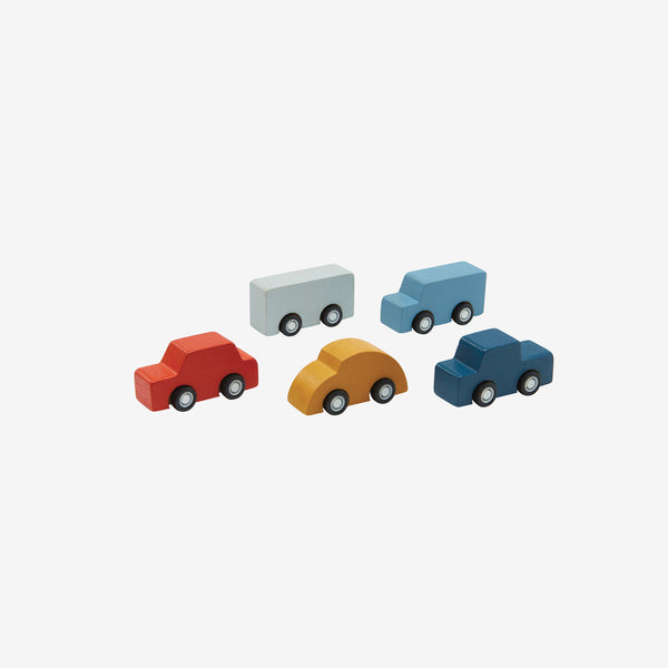 Mini Wooden Car Set of 5