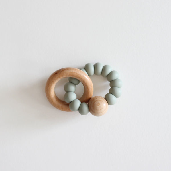 Levi Silicone Teether Toy - Eucalyptus