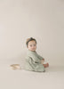 Organic Brushed Jersey Baby Dress - Sage Dash