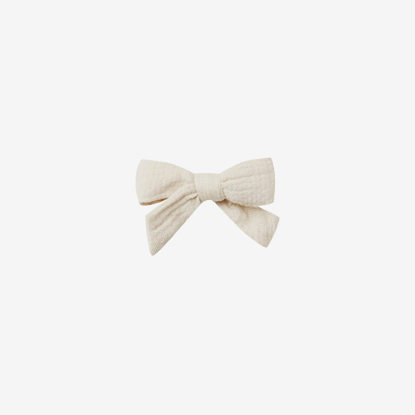 Organic Double Gauze Schoolgirl Bow - Natural