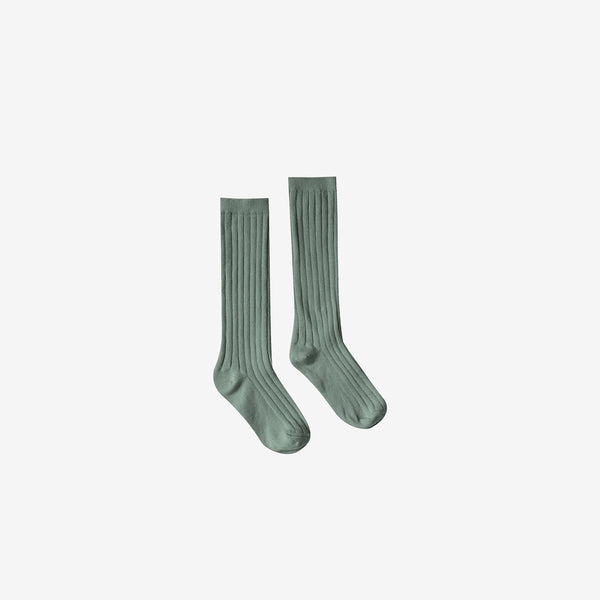 Ribbed Knee Socks - Rainforest
