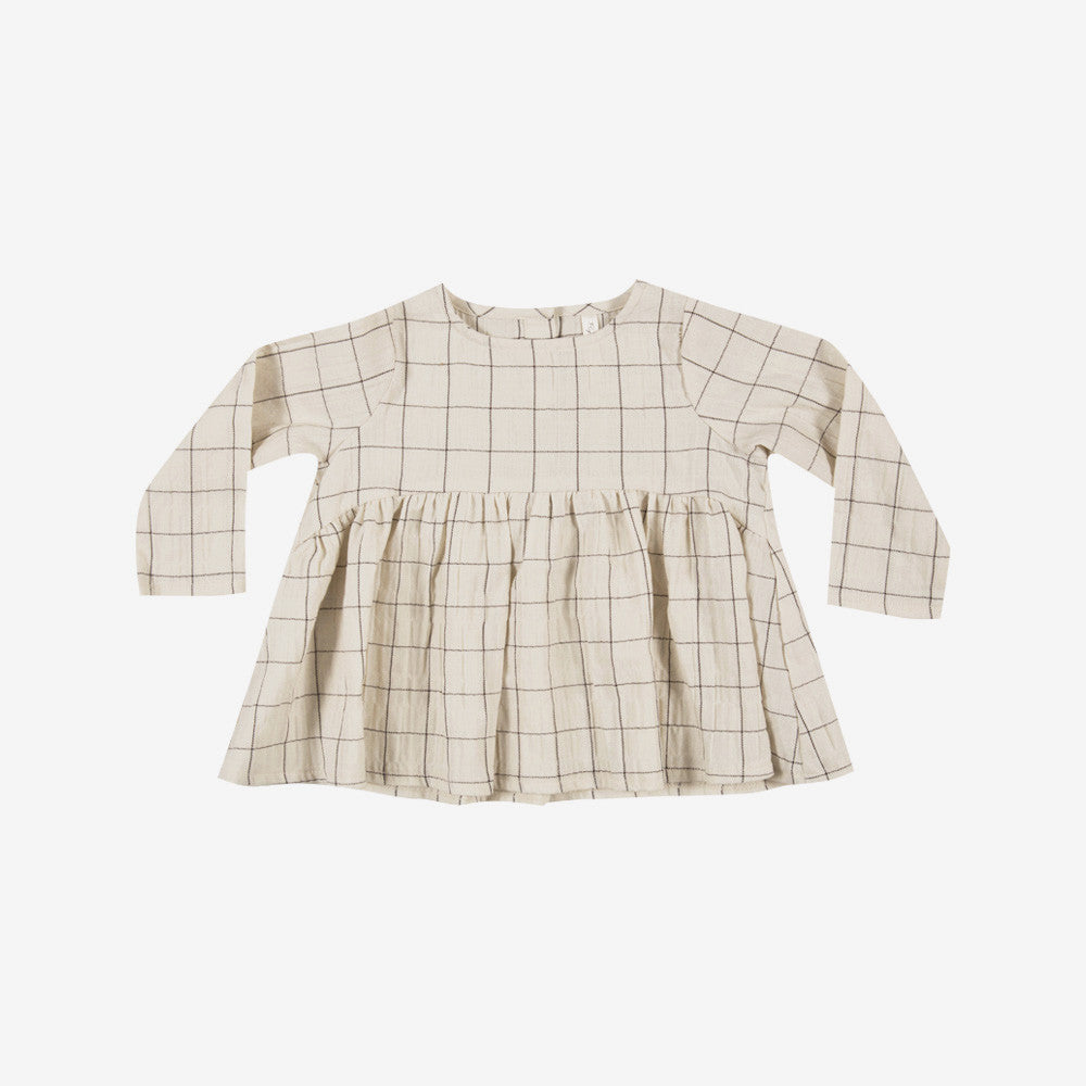 Vanilla Check Blouse