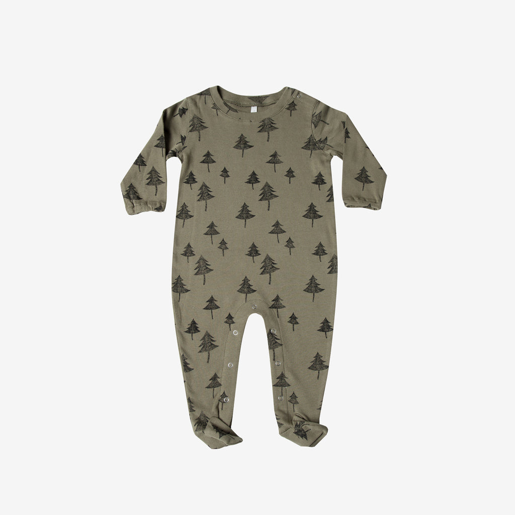 Trees Organic Footed Onesie