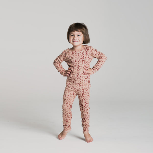 Winter Berry Organic Pajamas Set