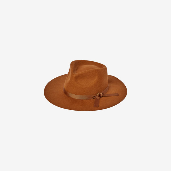 Soft Wool Felt Rancher Hat - Cinnamon