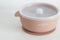 Silicone Suction Bowl w/ Lid - Coral