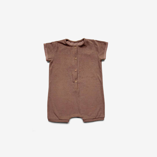The Daily Organic Terry Playsuit - Cinnamon