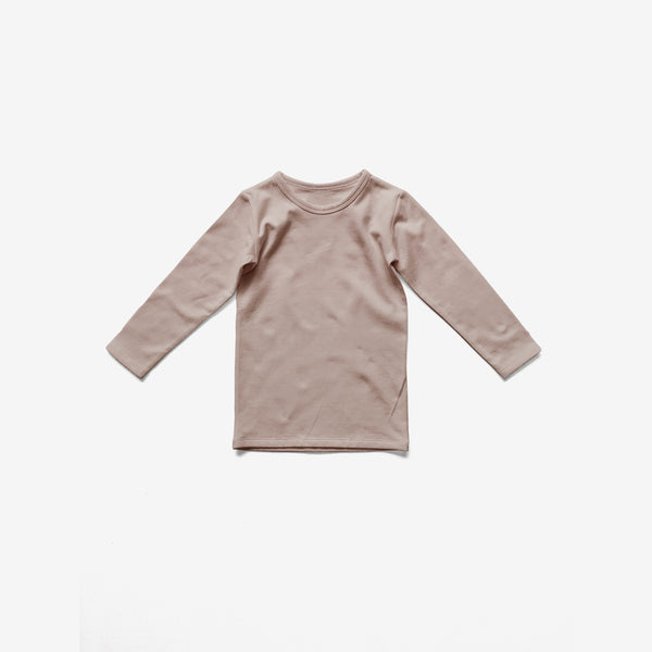 The Everyday Organic Jersey L/S Top - Antique Rose