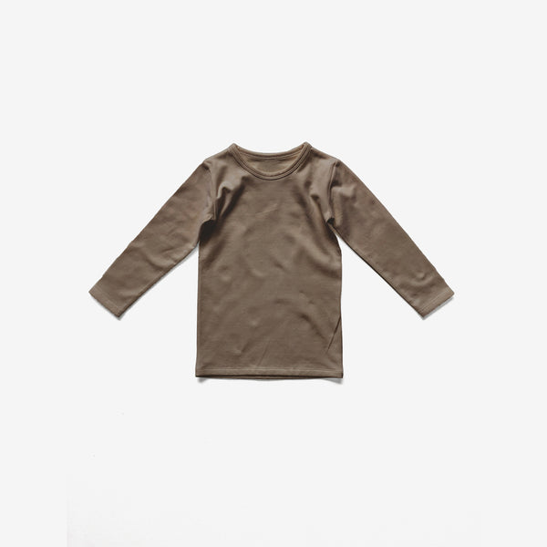 The Everyday Organic Jersey L/S Top - Walnut