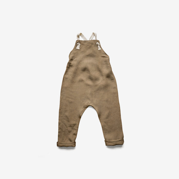 The Organic Linen Overall - Camel