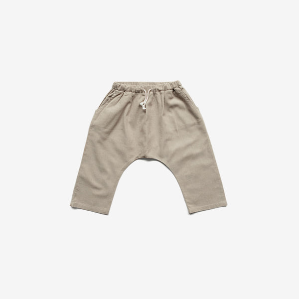 The Organic Linen Trouser - Oatmeal