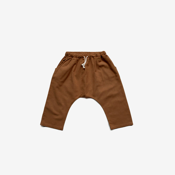 The Organic Linen Trouser - Rust