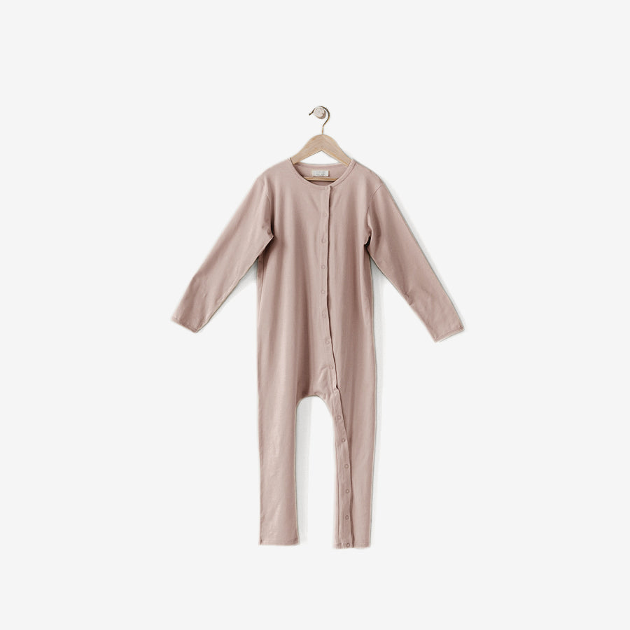 The Perfect Pajama Organic Cotton Long John - Antique Rose