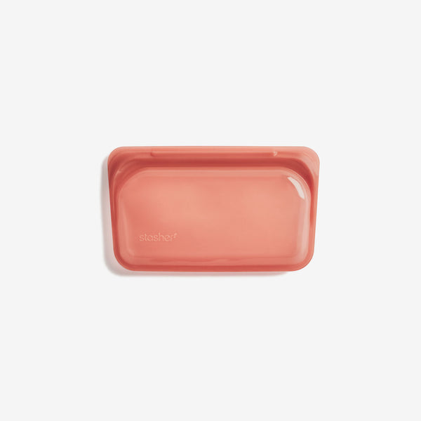Stasher Silicone Pinch-loc™ SNACK - Terracotta