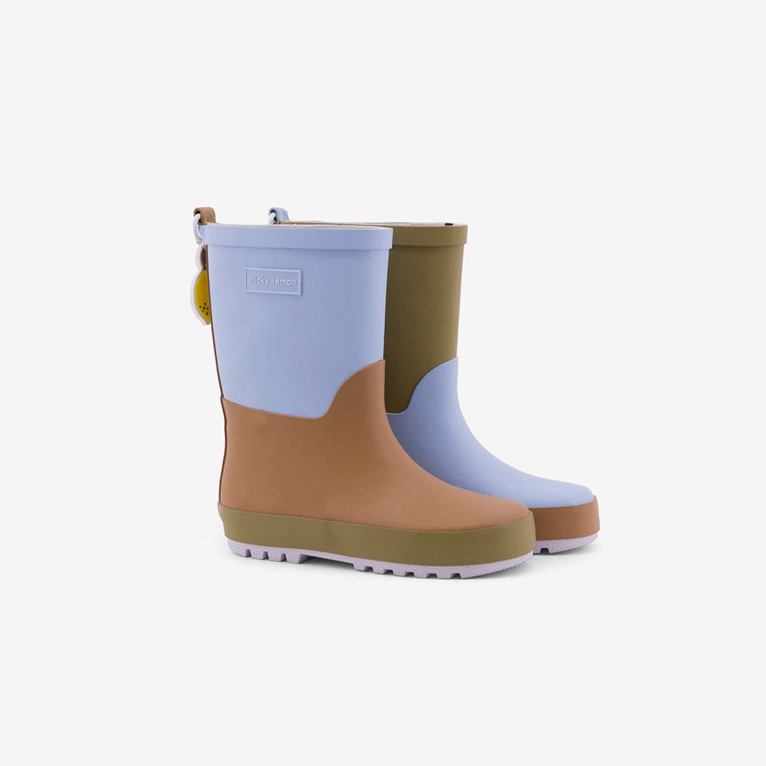 Colorblock Rain Boots - Blue