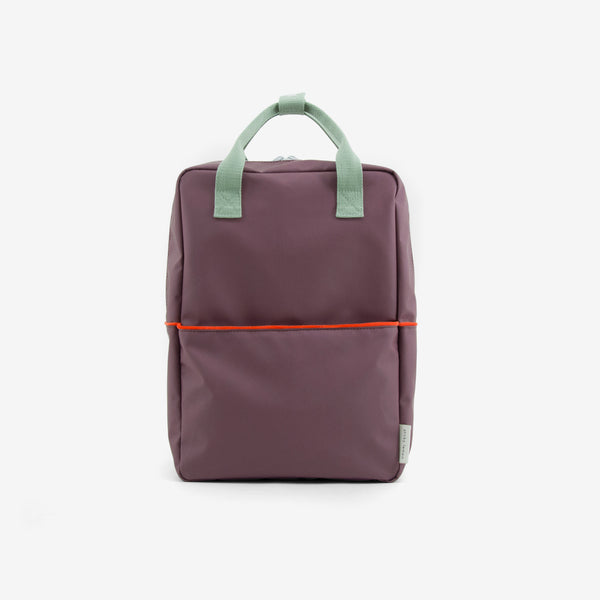 Backpack/Diaper Bag - Teddy Eggplant