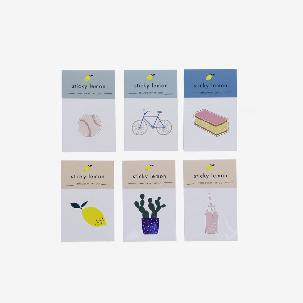 Sticky Lemon Temp Tattoos - Set A