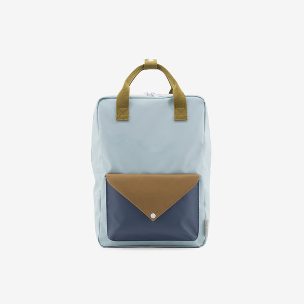 Backpack/Diaper Bag - Mist Blue Envelope