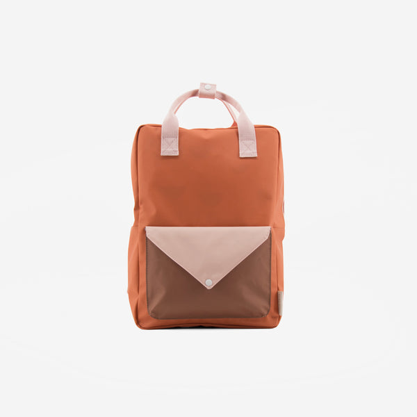 Backpack/Diaper Bag - Tangerine Envelope