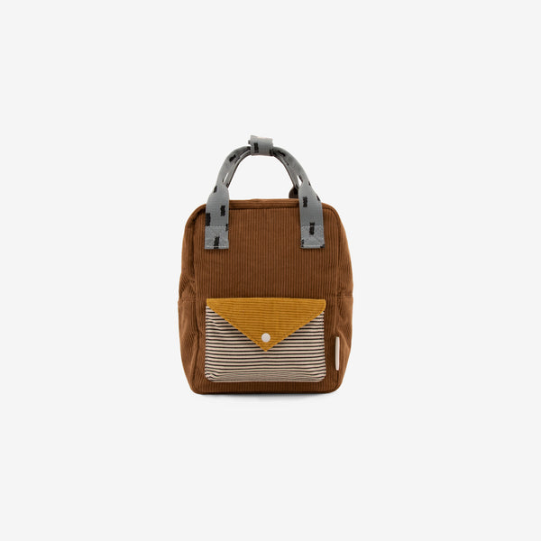 Small Backpack - Corduroy Walnut Brown