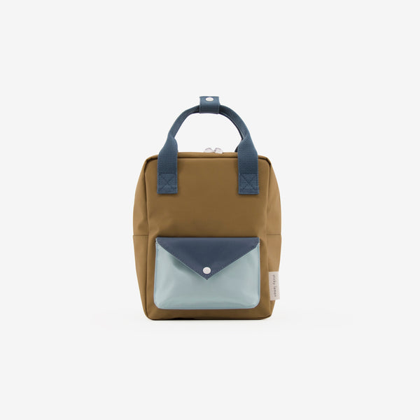 Small Backpack - Gold Green Envelope